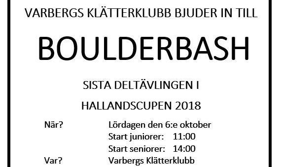 Sista deltävlingen i Hallandscupen 6 oktober