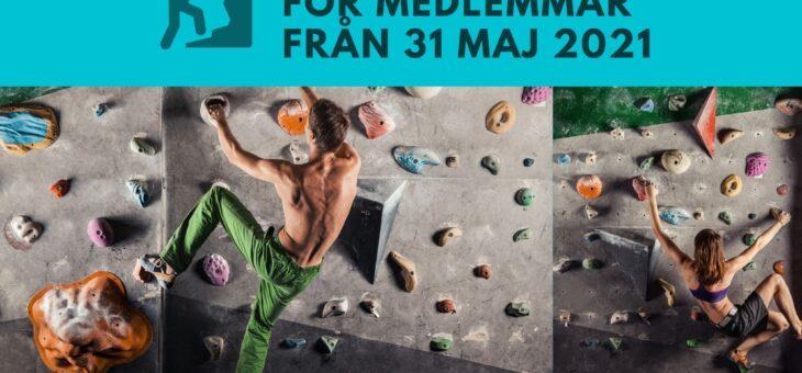 Hallen öppnar 31 maj för medlemmar